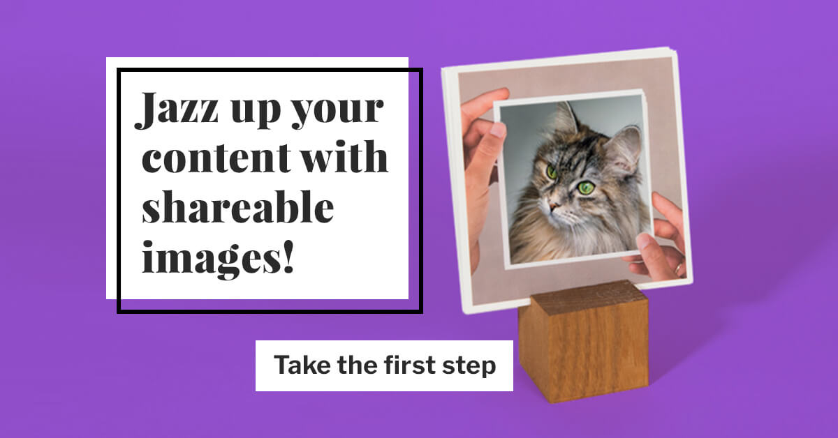 Jazz up your content with shareable images