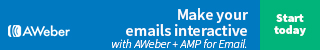 Make your emails interactive with AWeber and AMP for Email