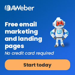 Quickly create stunning landing pages with AWeber